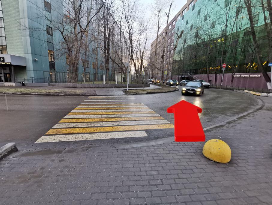 Схема прохода от станции метро Парк Победы